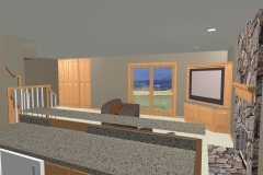 Downs Basement Cad Drawing Back Door View