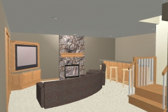 Downs Basement Cad Drawing Bar to tv