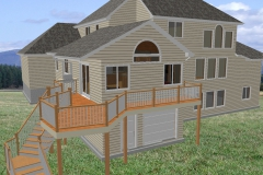 Camera view of exterior addition